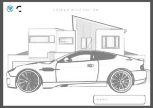 Page 3 300x212 - Colour your very own Aston and you might win a prize!
