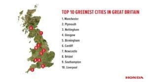 Honda Greenest People Top Ten Map 300x167 - Honda reveals the 'Greenest People' in Great Britain
