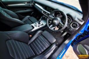 Alfa inside 300x200 - Alfa Romeo Stelvio Veloce Reviewed by Brown Car Guy
